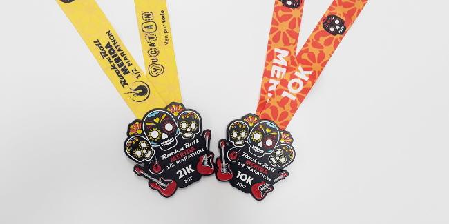 medallas maraton de merida en mexico