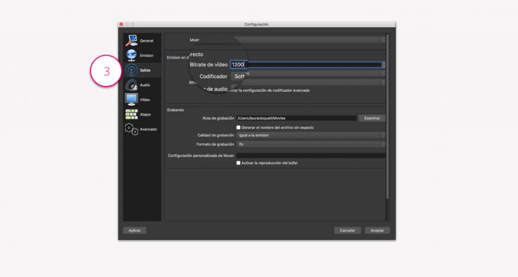 Configuración de un punto de vídeo - Paso 3