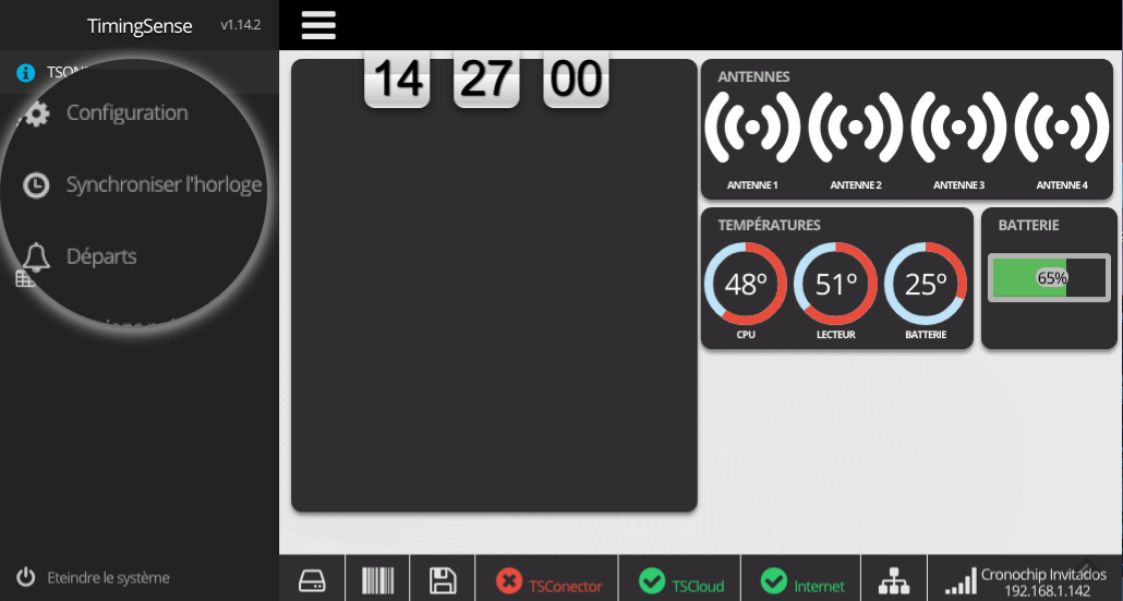 Synchronisation manuelle depuis l'équipement