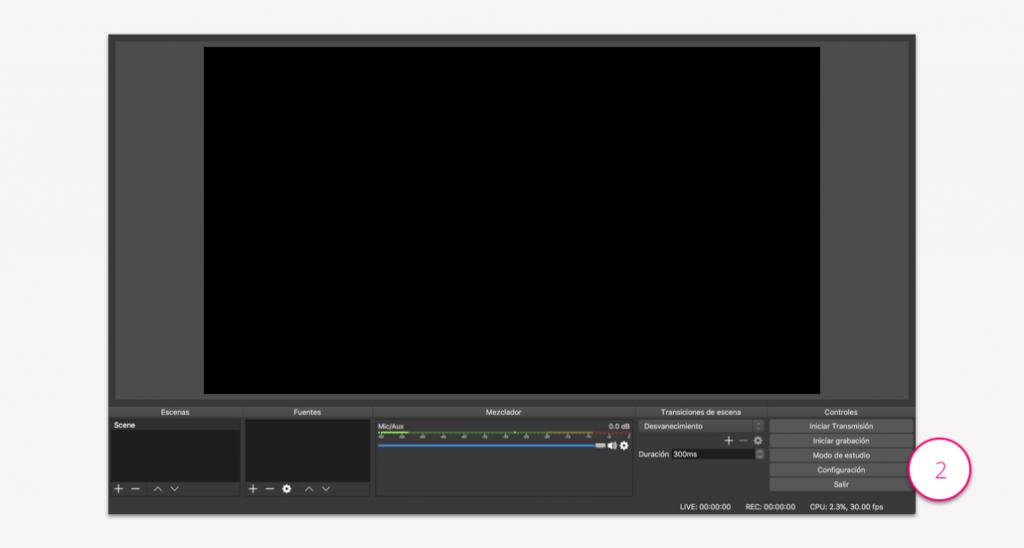 Configuración de un punto de vídeo - Paso 2