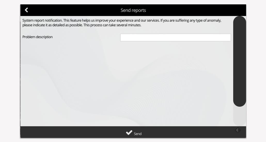 Sending reports - Step 4